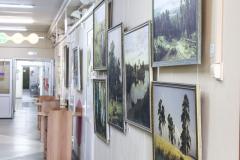 картинная галерея в отделении КДО, поликлиника №1